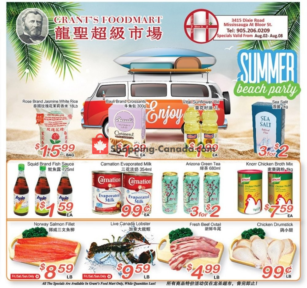 Flyer Grant's Foodmart Canada - from Friday August 2, 2019 to Thursday August 8, 2019