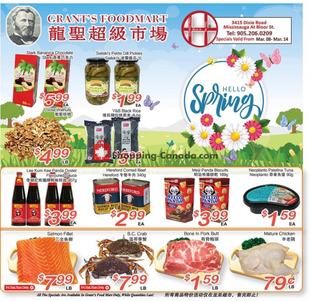 Flyer Grant's Foodmart Canada - from Friday March 8, 2019 to Thursday March 14, 2019