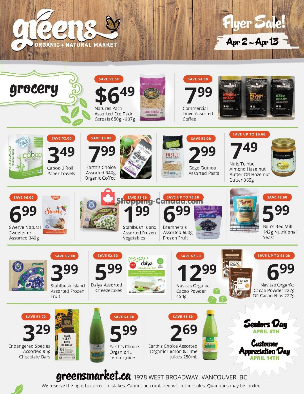Flyer Greens Market Canada - from Friday April 2, 2021 to Thursday April 15, 2021