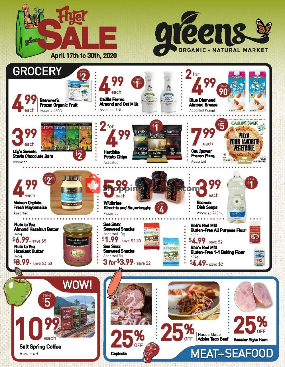 Flyer Greens Market Canada - from Friday April 17, 2020 to Thursday April 30, 2020