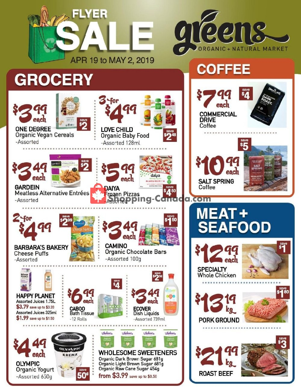 Flyer Greens Market Canada - from Friday April 19, 2019 to Thursday May 2, 2019