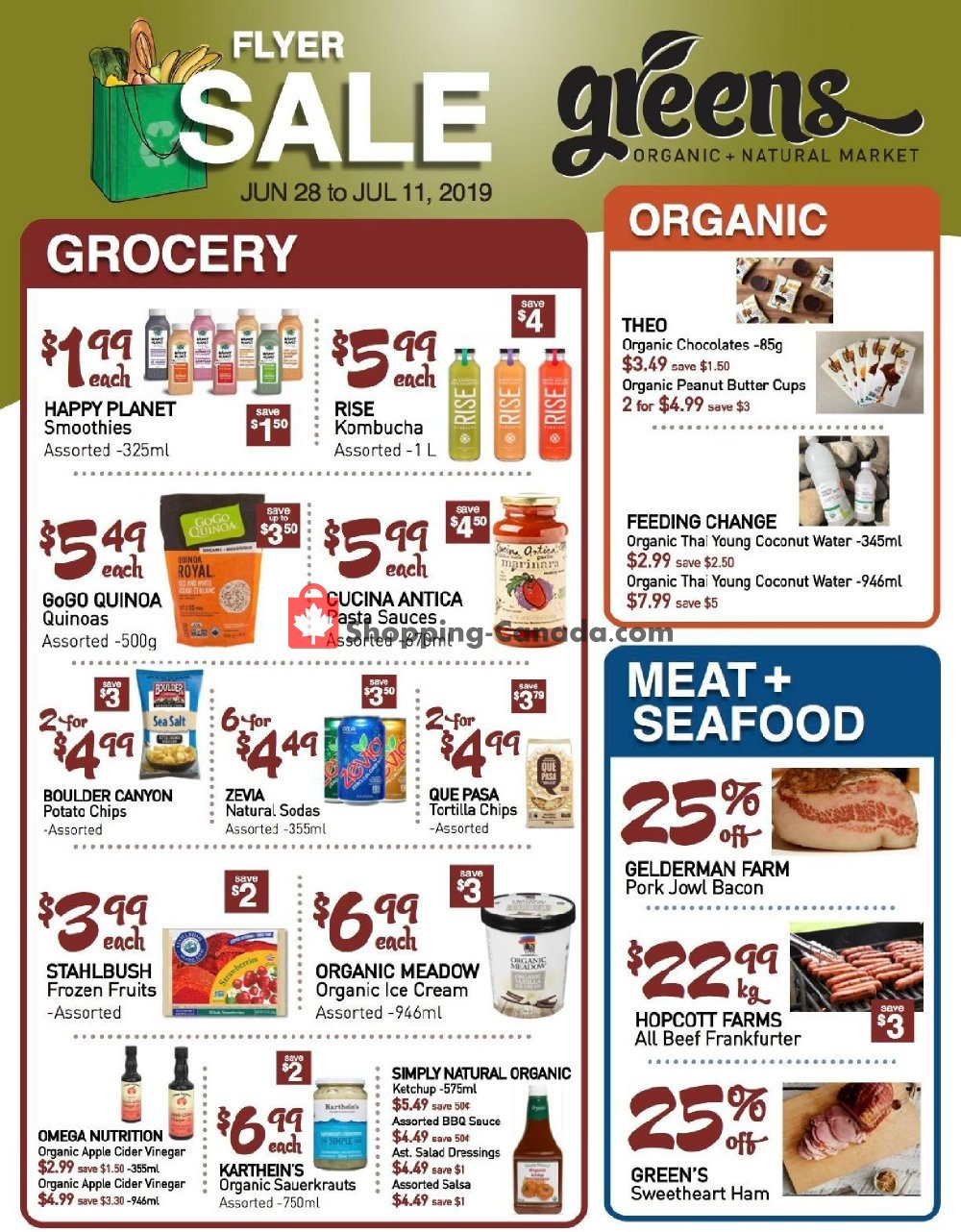 Flyer Greens Market Canada - from Friday June 28, 2019 to Thursday July 11, 2019