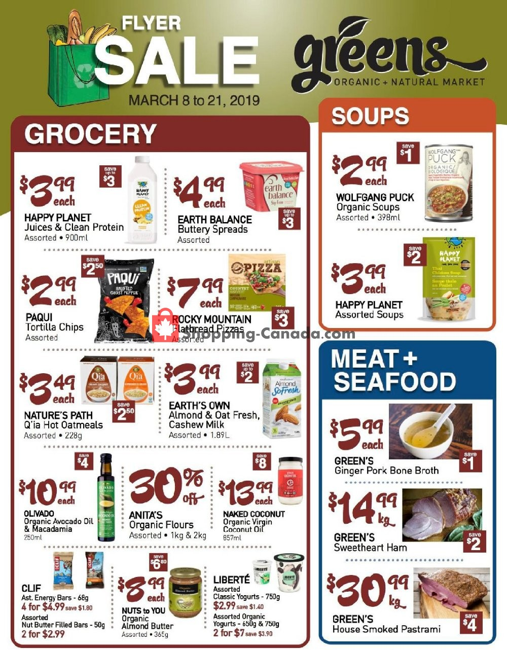 Flyer Greens Market Canada - from Friday March 8, 2019 to Thursday March 21, 2019