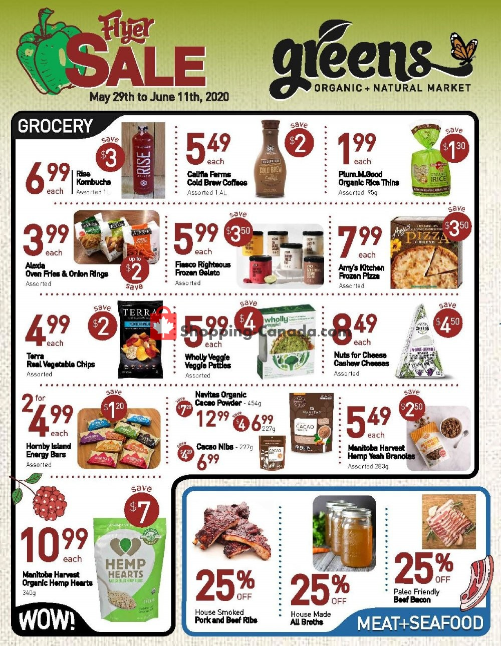 Flyer Greens Market Canada - from Friday May 29, 2020 to Thursday June 11, 2020