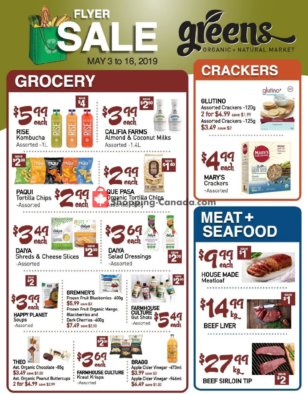Flyer Greens Market Canada - from Friday May 3, 2019 to Thursday May 16, 2019