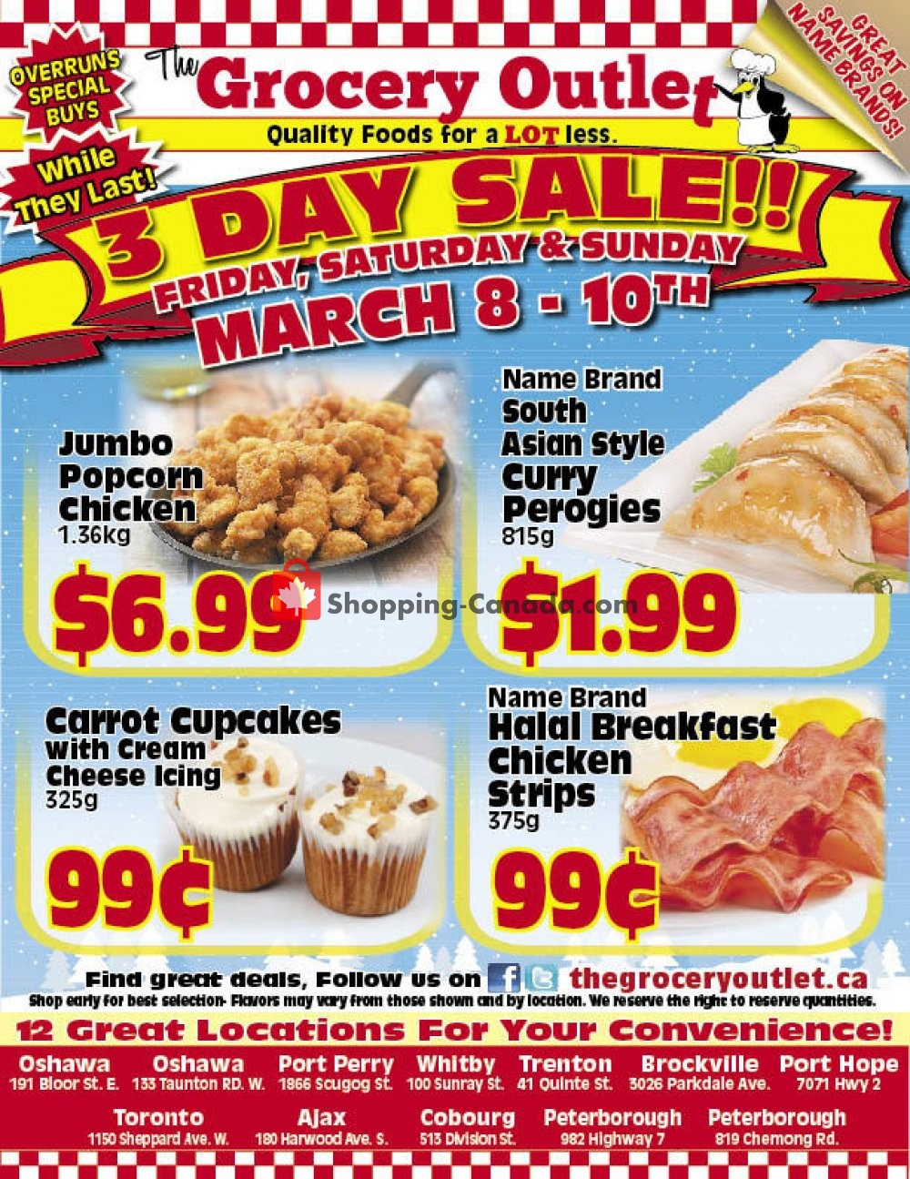 Flyer Grocery Outlet Canada - from Friday March 8, 2019 to Sunday March 10, 2019
