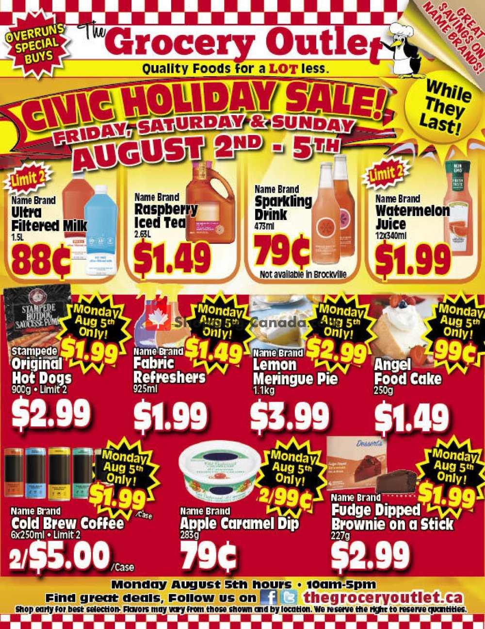 Flyer Grocery Outlet Canada - from Friday August 2, 2019 to Monday August 5, 2019