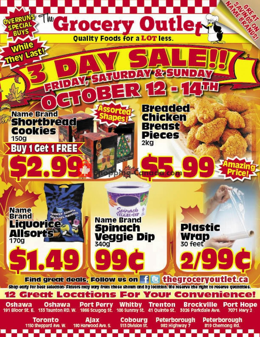 Flyer Grocery Outlet Canada - from Friday October 12, 2018 to Sunday October 14, 2018