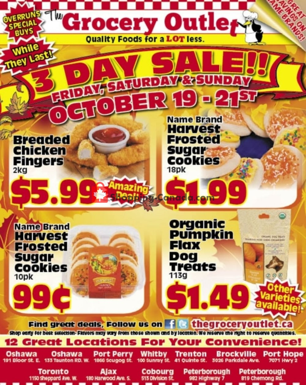 Flyer Grocery Outlet Canada - from Friday October 19, 2018 to Sunday October 21, 2018