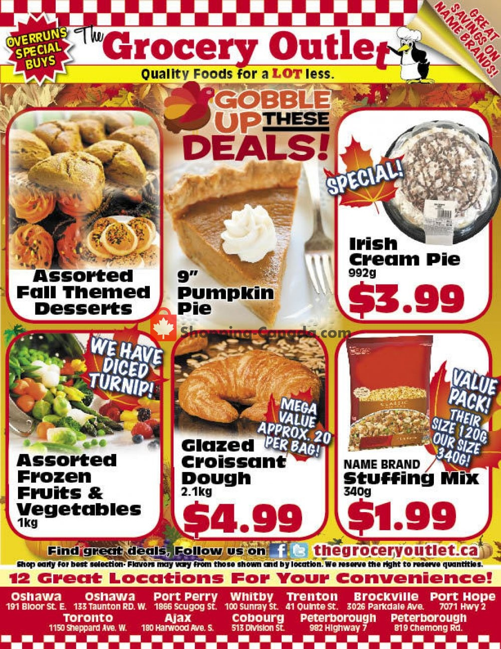 Flyer Grocery Outlet Canada - from Tuesday October 2, 2018 to Wednesday October 31, 2018