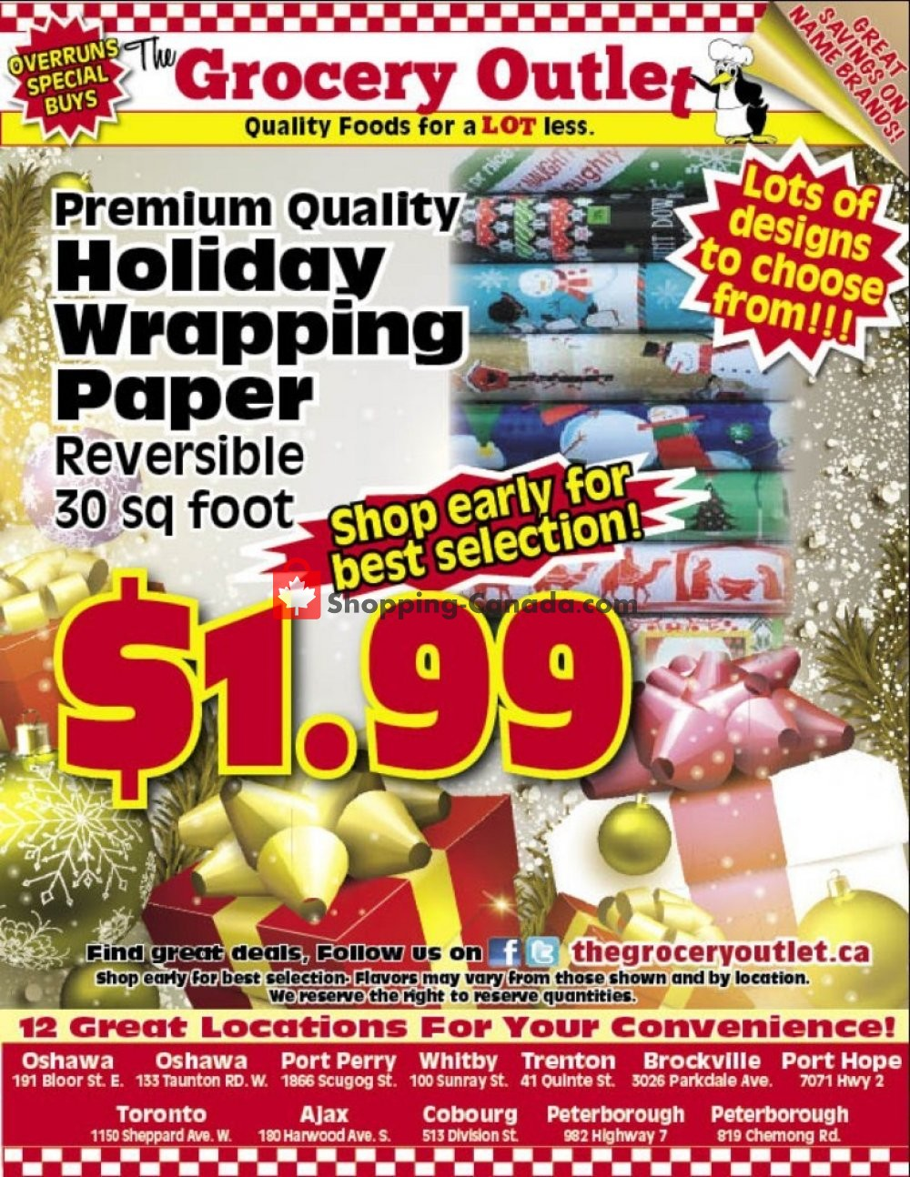 Flyer Grocery Outlet Canada - from Thursday October 25, 2018 to Sunday October 28, 2018