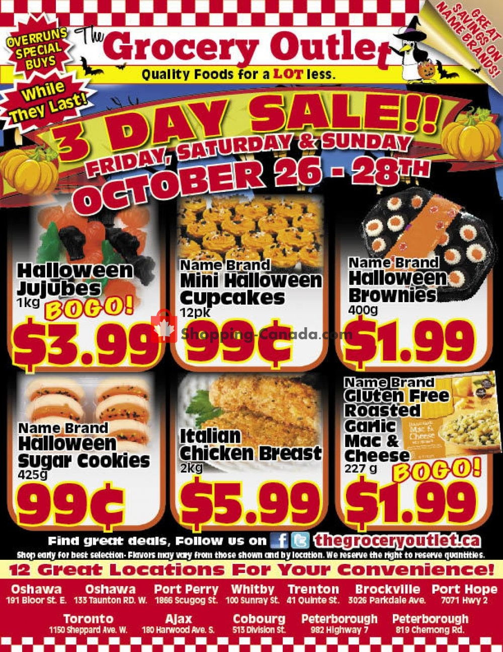 Flyer Grocery Outlet Canada - from Friday October 26, 2018 to Sunday October 28, 2018