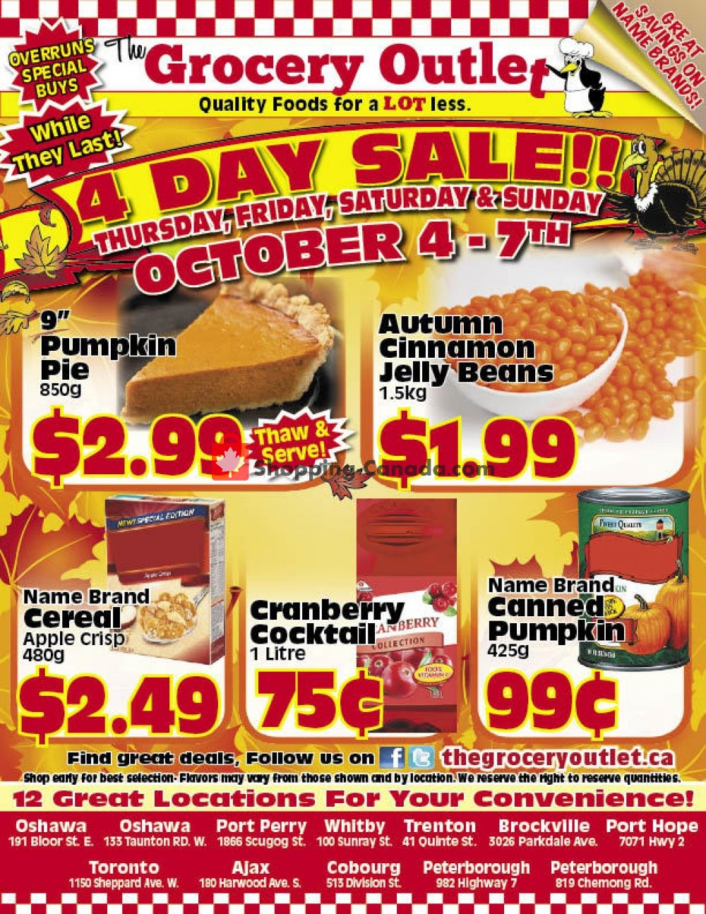 Flyer Grocery Outlet Canada - from Thursday October 4, 2018 to Sunday October 7, 2018