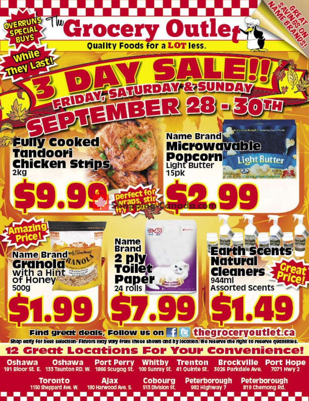 Flyer Grocery Outlet Canada - from Friday September 28, 2018 to Sunday September 30, 2018