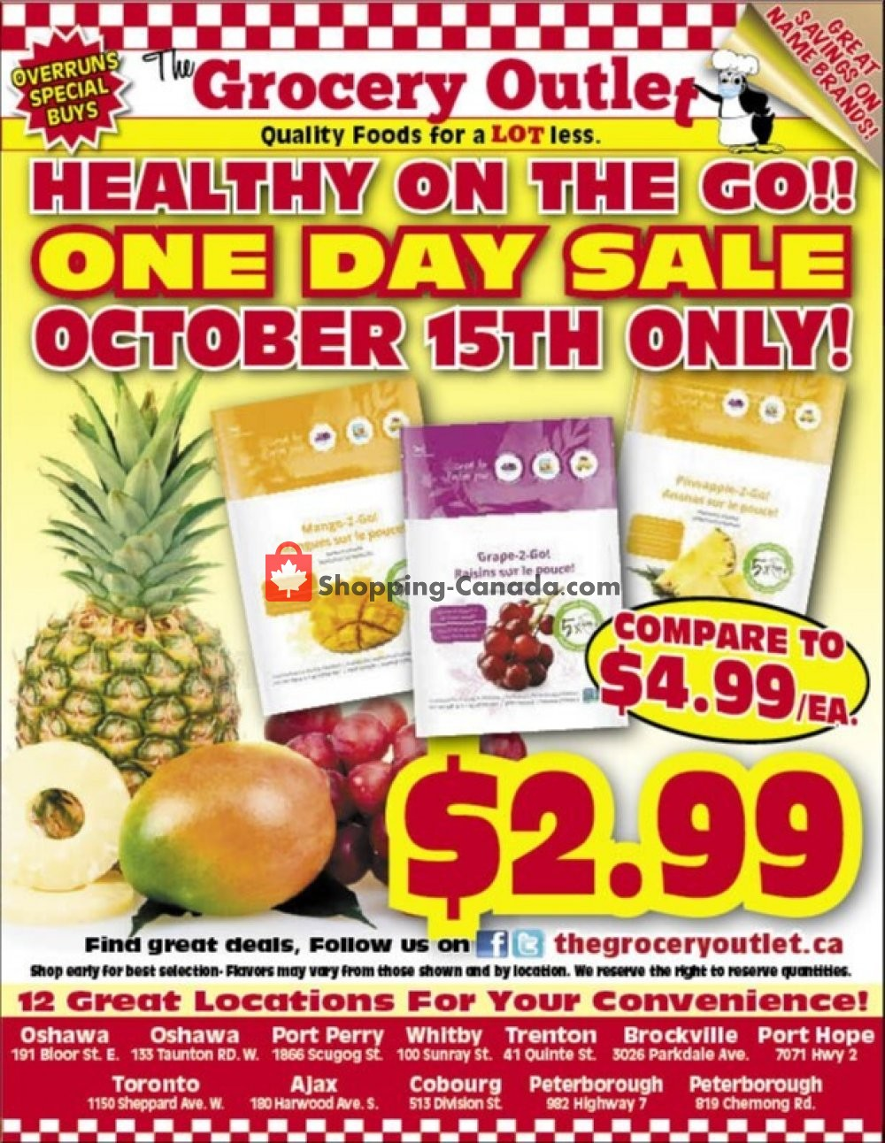 Flyer Grocery Outlet Canada - from Thursday October 15, 2020 to Thursday October 15, 2020
