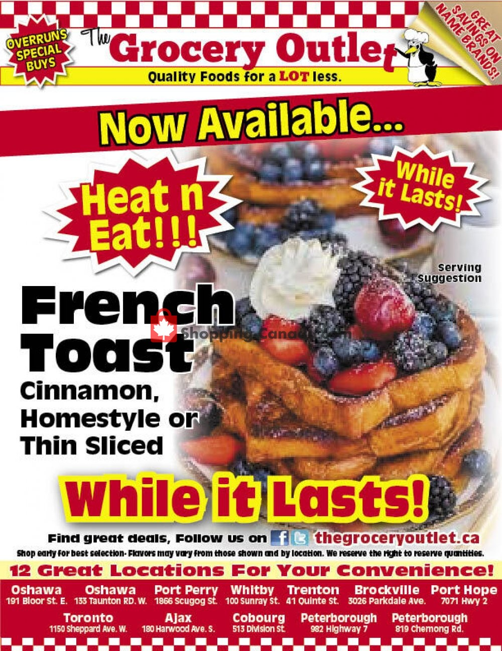Flyer Grocery Outlet Canada - from Thursday August 6, 2020 to Wednesday August 12, 2020