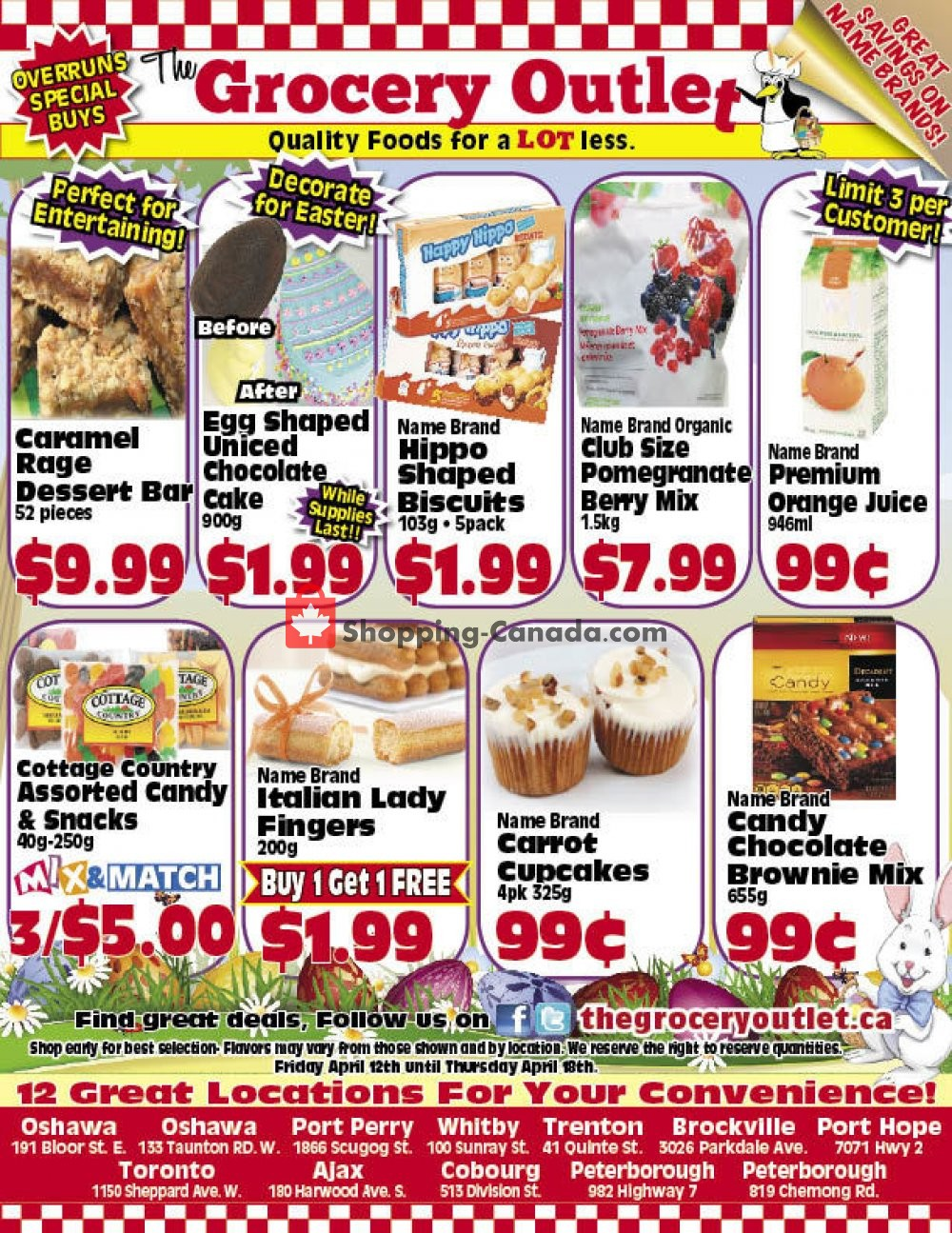 Flyer Grocery Outlet Canada - from Friday April 12, 2019 to Sunday April 14, 2019