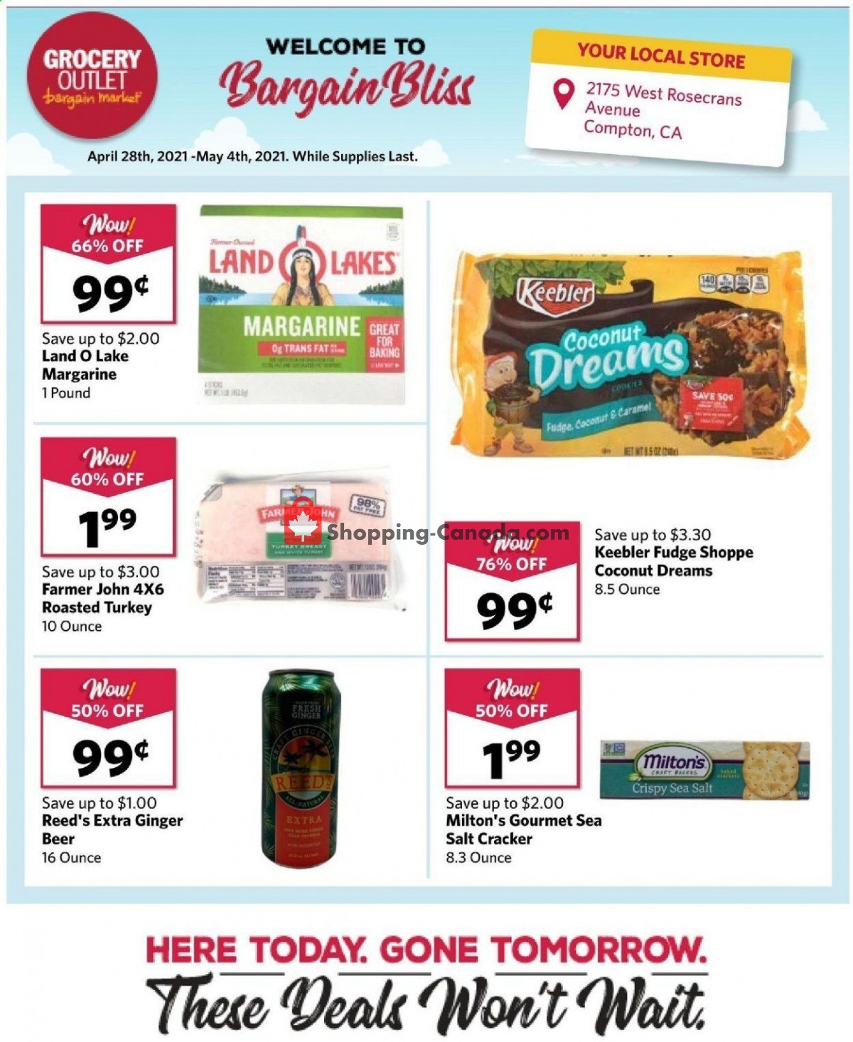Flyer Grocery Outlet Canada - from Wednesday April 28, 2021 to Tuesday May 4, 2021