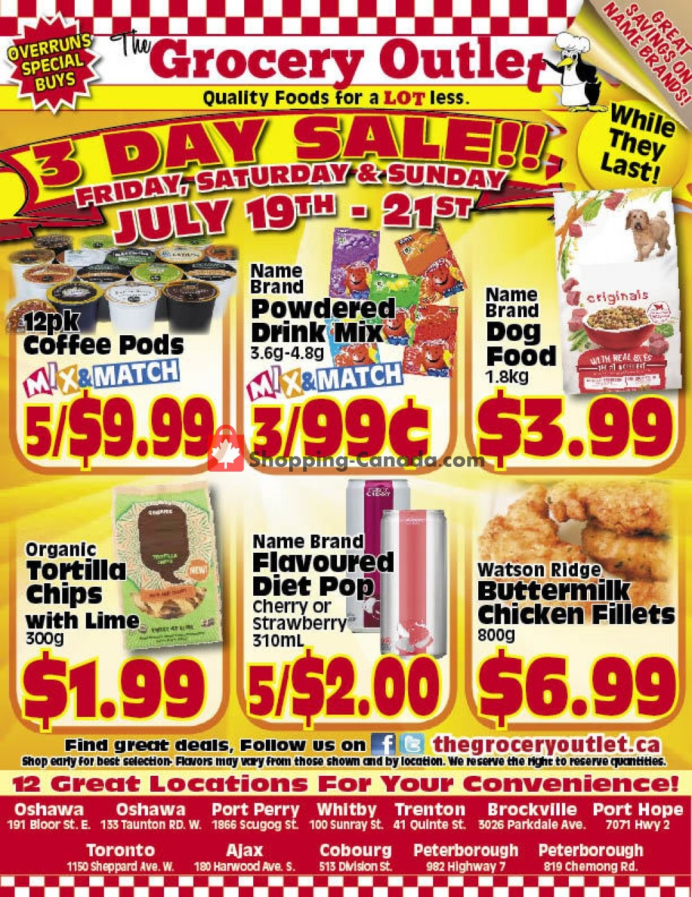 Flyer Grocery Outlet Canada - from Friday July 19, 2019 to Sunday July 21, 2019