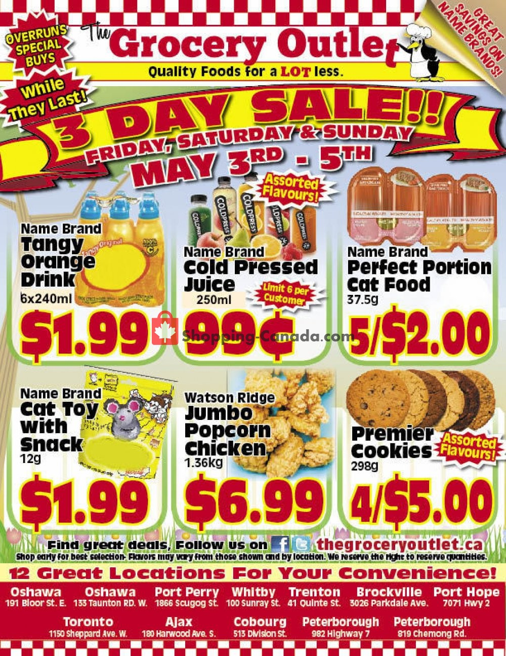 Flyer Grocery Outlet Canada - from Friday May 3, 2019 to Sunday May 5, 2019