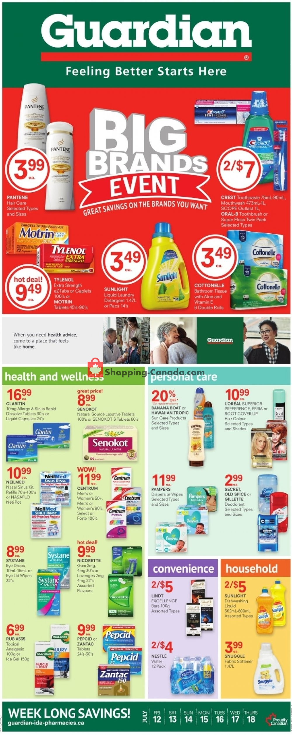 Flyer Guardian Canada - from Friday July 12, 2019 to Thursday July 18, 2019