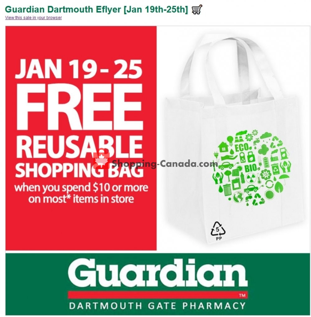 Flyer Guardian Canada - from Tuesday January 19, 2021 to Monday January 25, 2021
