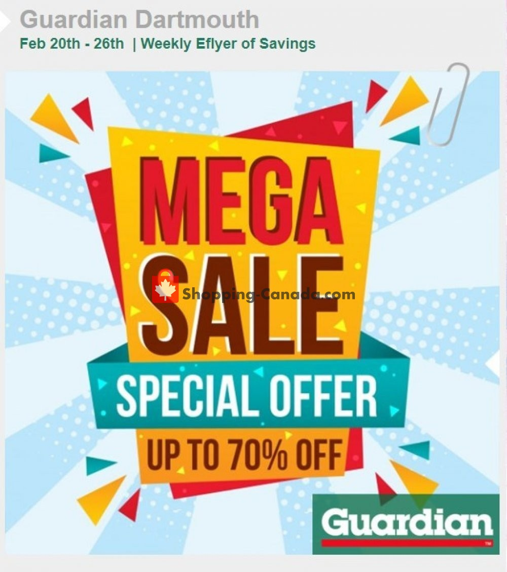 Flyer Guardian Canada - from Wednesday February 20, 2019 to Tuesday February 26, 2019
