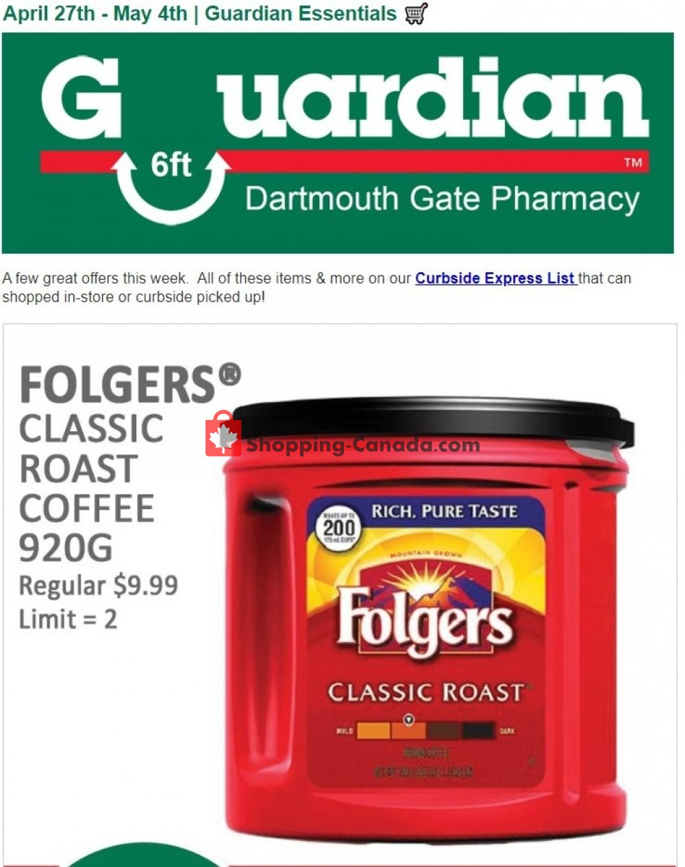 Flyer Guardian Canada - from Monday April 27, 2020 to Monday May 4, 2020