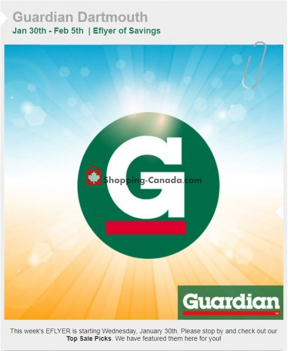 Flyer Guardian Canada - from Wednesday January 30, 2019 to Tuesday February 5, 2019