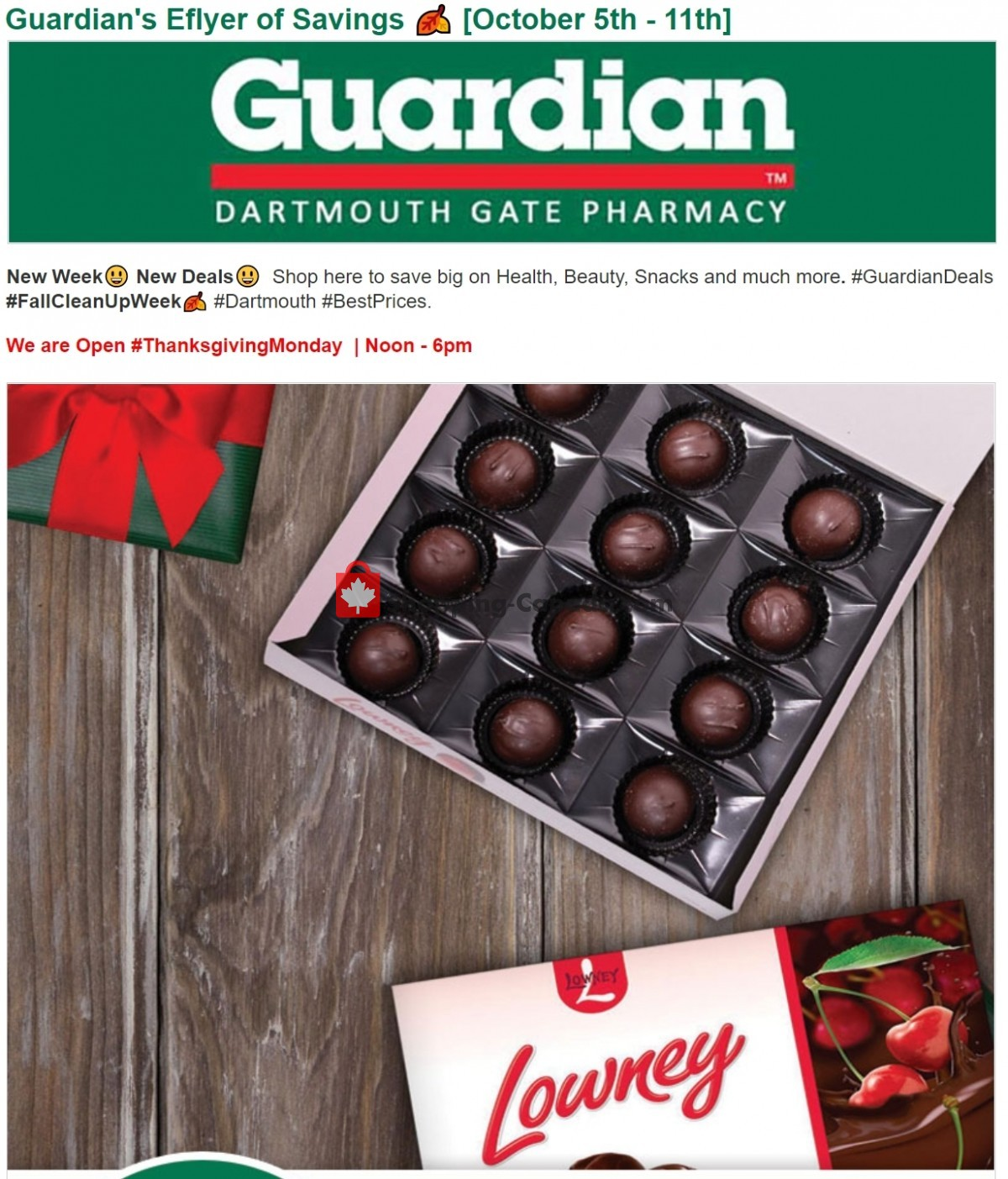 Flyer Guardian Canada - from Tuesday October 5, 2021 to Monday October 11, 2021