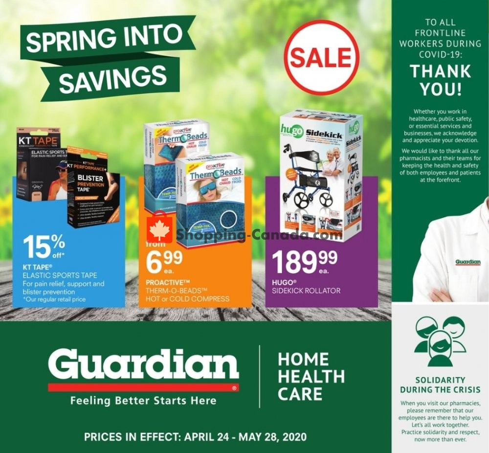 Flyer Guardian Canada - from Friday April 24, 2020 to Thursday May 28, 2020