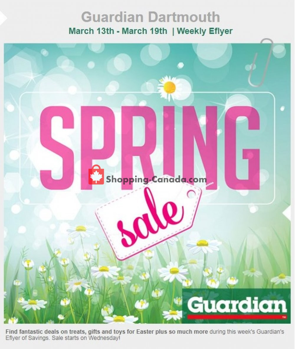 Flyer Guardian Canada - from Wednesday March 13, 2019 to Tuesday March 19, 2019