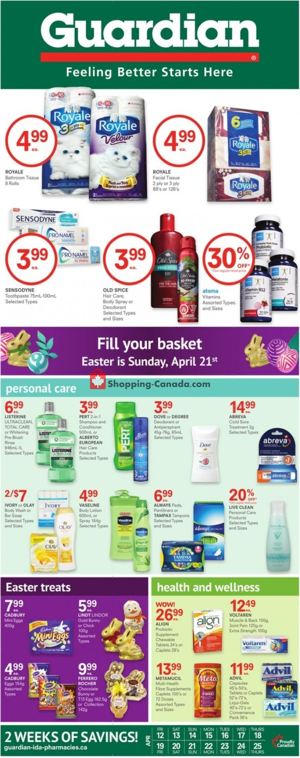 Flyer Guardian Canada - from Friday April 12, 2019 to Thursday April 25, 2019