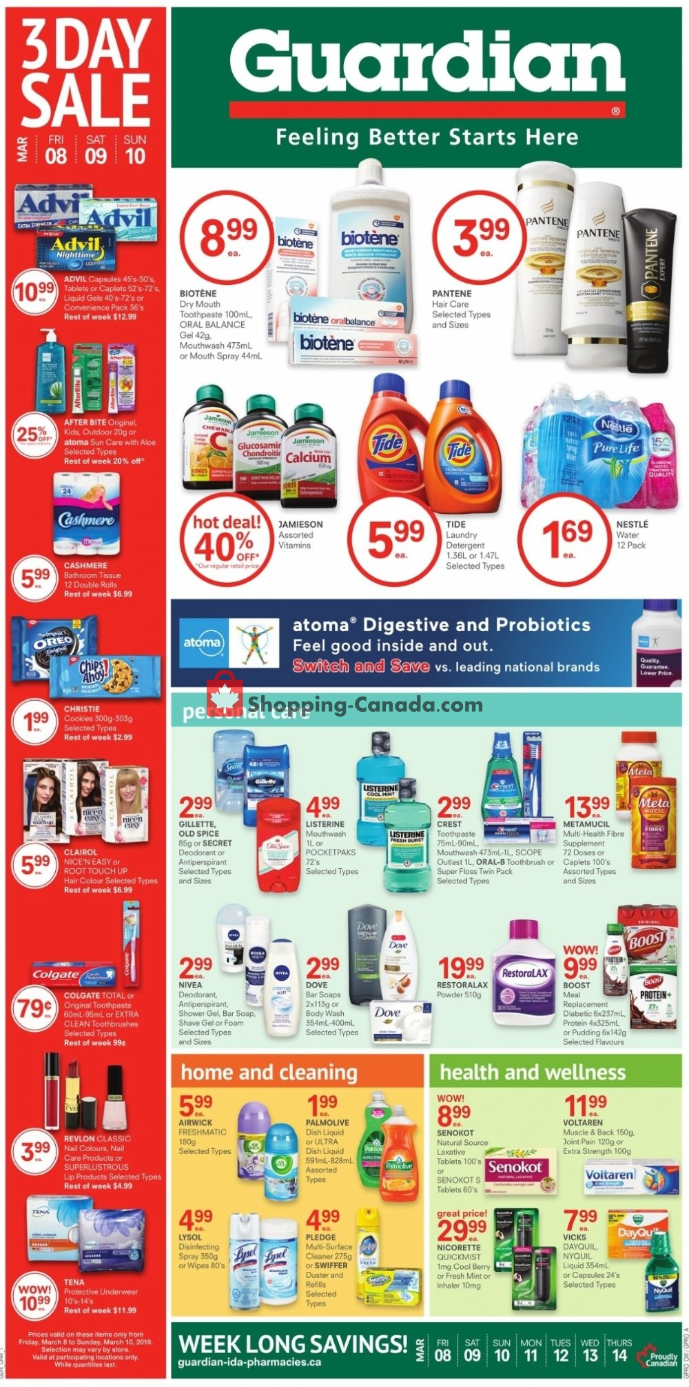 Flyer Guardian Canada - from Friday March 8, 2019 to Thursday March 14, 2019