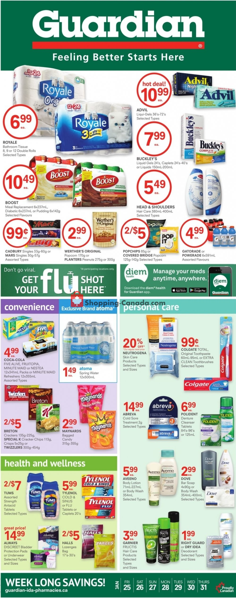 Flyer Guardian Canada - from Friday January 25, 2019 to Thursday January 31, 2019