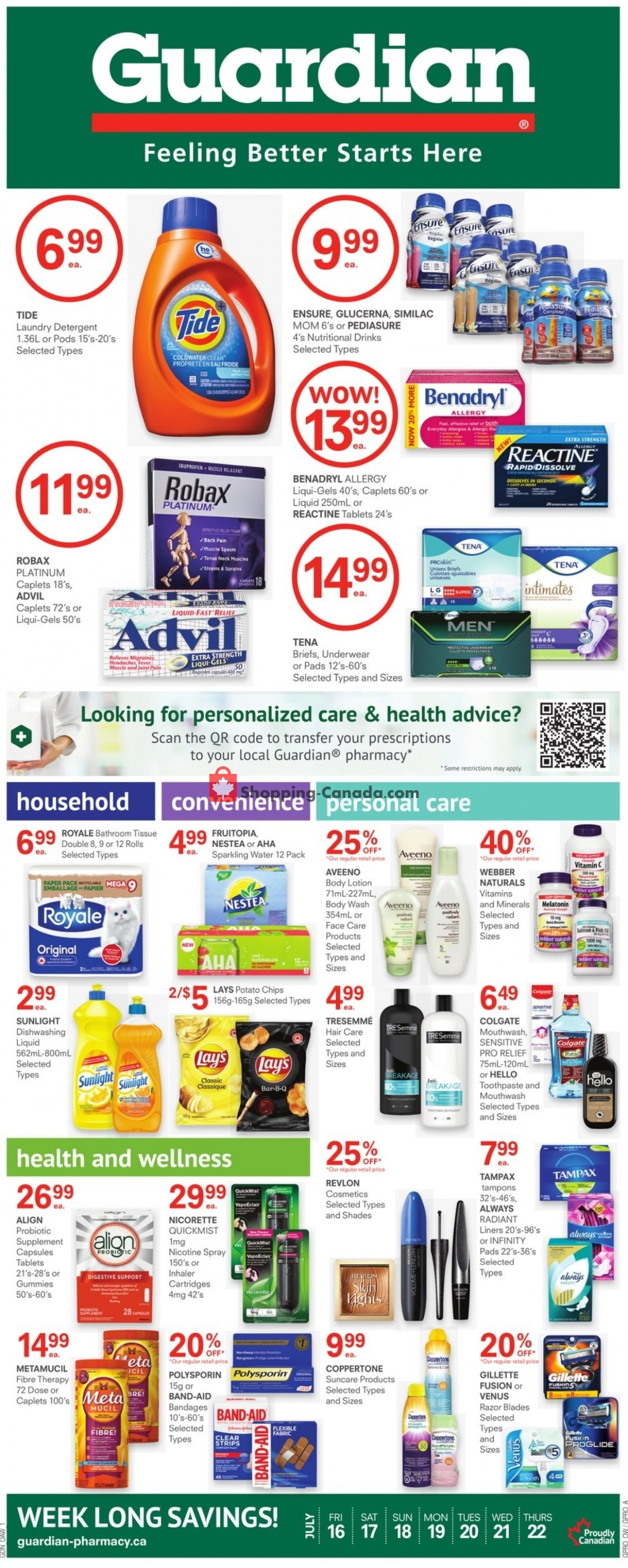 Flyer Guardian Canada - from Friday July 16, 2021 to Thursday July 22, 2021