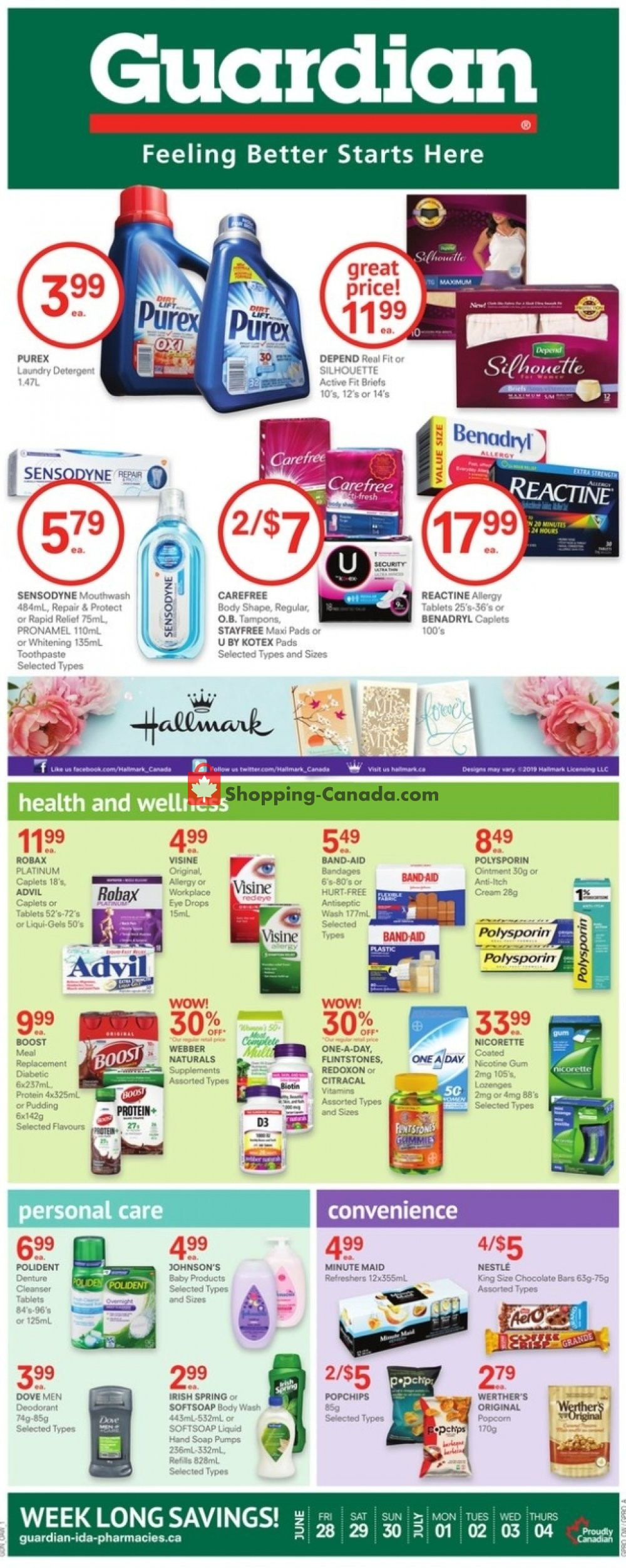 Flyer Guardian Canada - from Friday June 28, 2019 to Thursday July 4, 2019