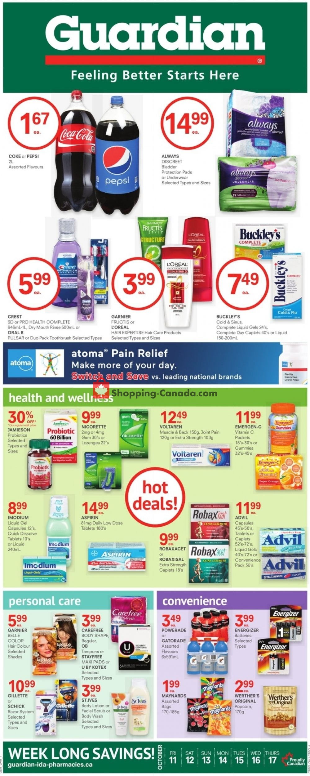 Flyer Guardian Canada - from Friday October 11, 2019 to Thursday October 17, 2019