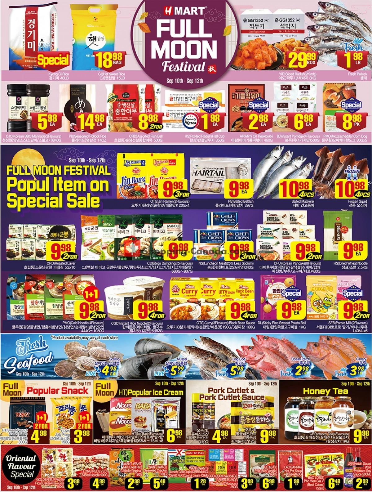 Flyer H-Mart Canada - from Friday September 10, 2021 to Thursday September 16, 2021