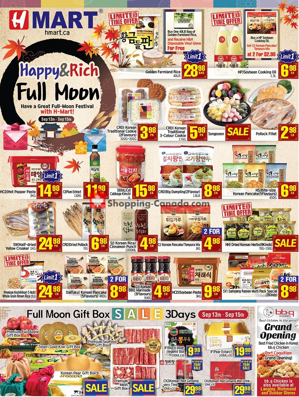 Flyer H-Mart Canada - from Friday September 13, 2019 to Thursday September 19, 2019