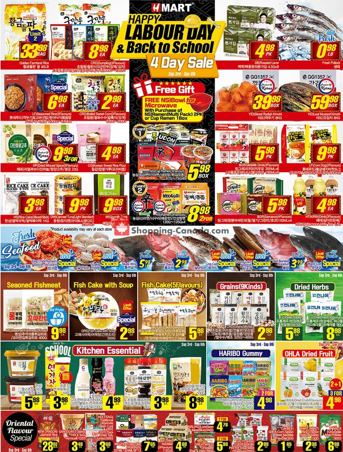 Flyer H-Mart Canada - from Friday September 3, 2021 to Thursday September 9, 2021