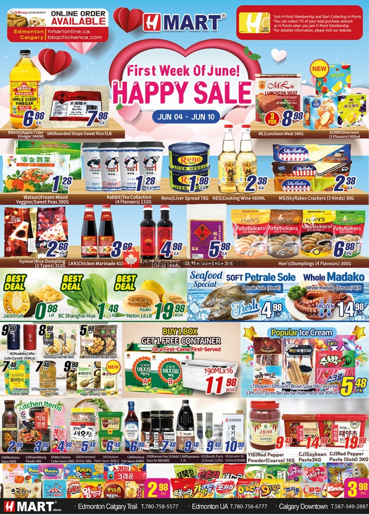 Flyer H-Mart Canada - from Friday June 4, 2021 to Thursday June 10, 2021
