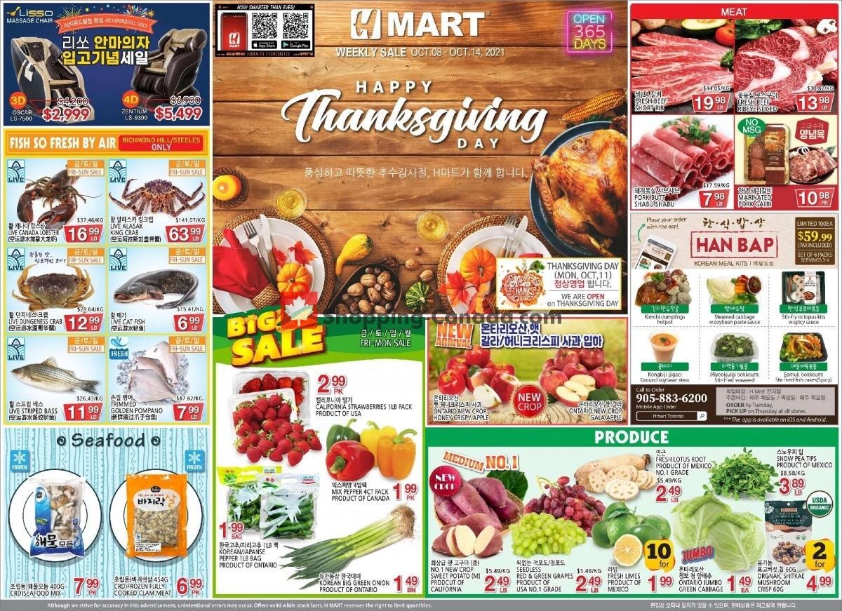 Flyer H-Mart Canada - from Friday October 8, 2021 to Thursday October 14, 2021