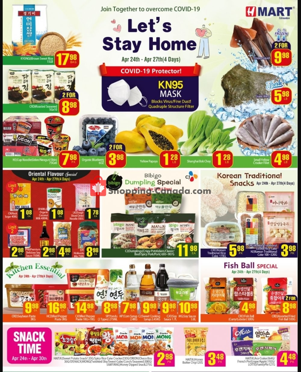 Flyer H-Mart Canada - from Friday April 24, 2020 to Thursday April 30, 2020