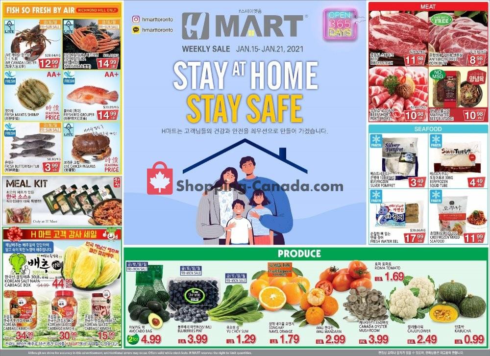 Flyer H-Mart Canada - from Friday January 15, 2021 to Thursday January 21, 2021