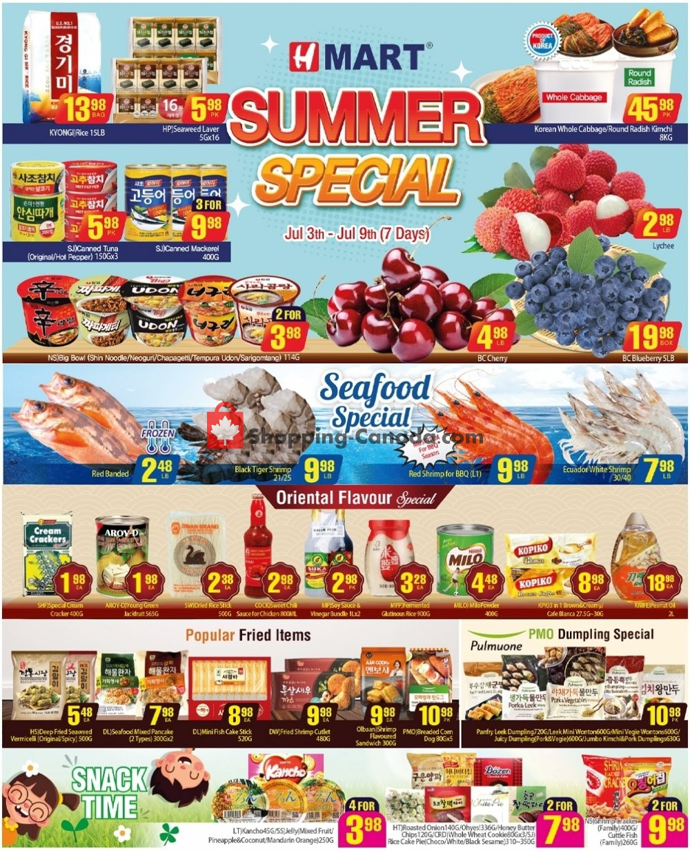 Flyer H Mart Canada - from Friday July 3, 2020 to Thursday July 9, 2020