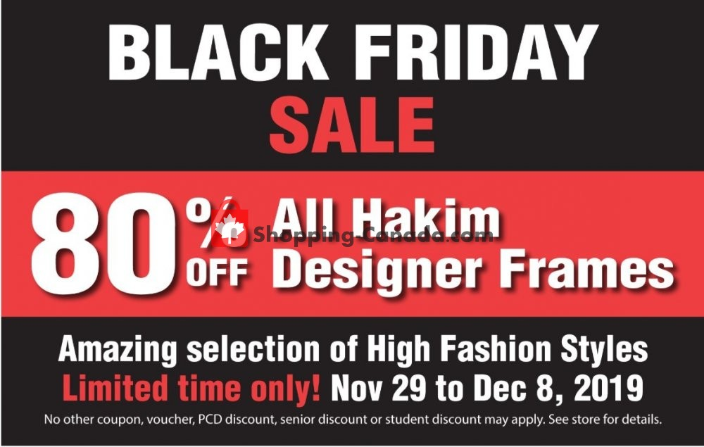 Flyer Hakim Canada - from Friday November 29, 2019 to Sunday December 8, 2019