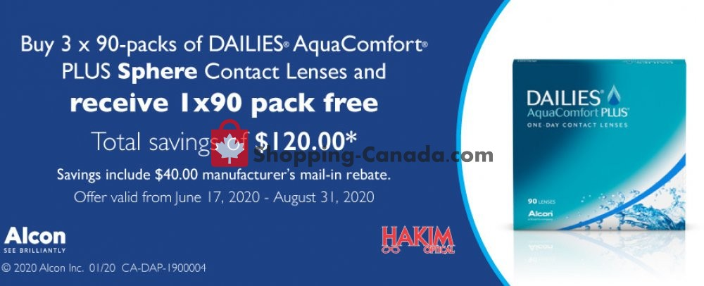 Flyer Hakim Canada - from Wednesday June 17, 2020 to Monday August 31, 2020