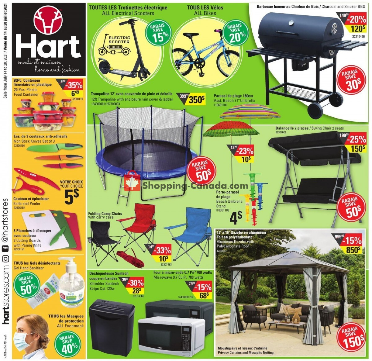 Flyer Hart Canada - from Wednesday July 14, 2021 to Tuesday July 20, 2021