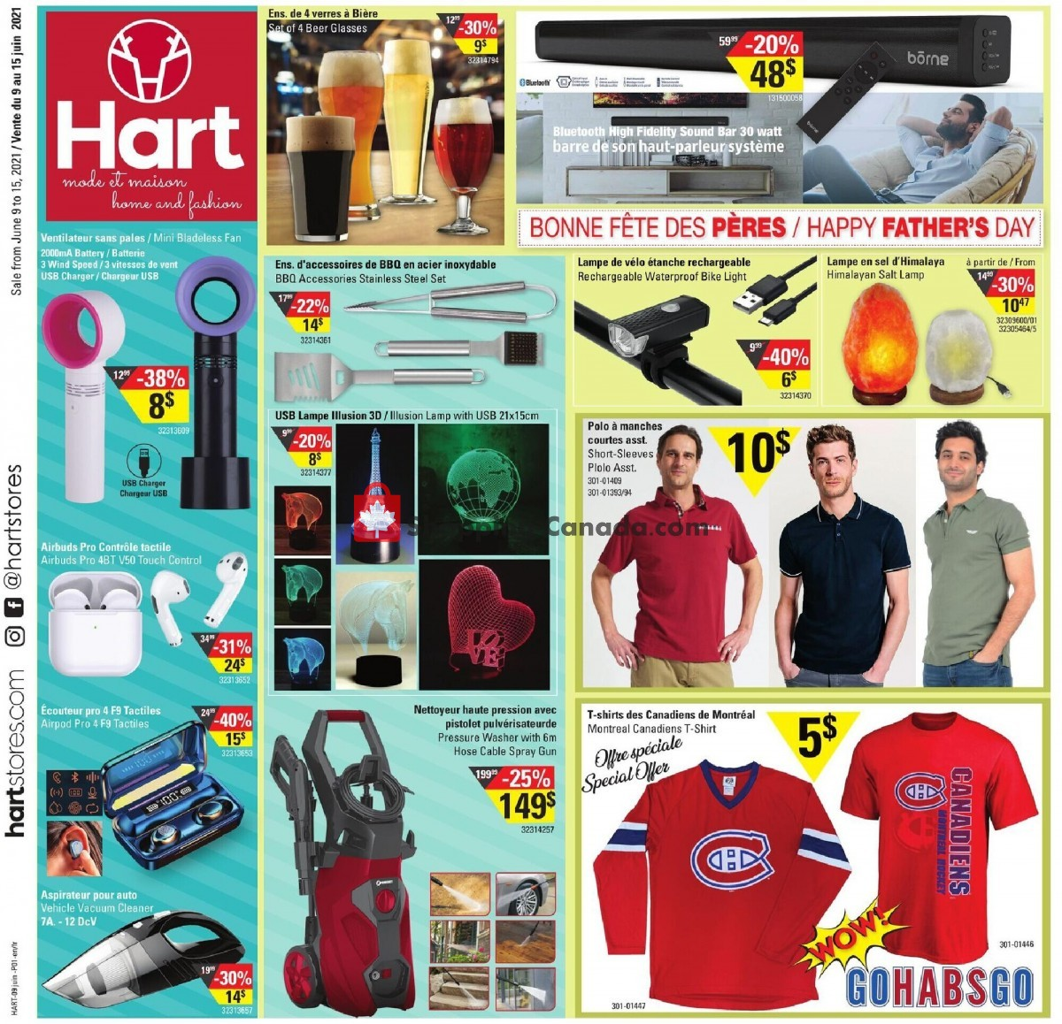 Flyer Hart Canada - from Wednesday June 9, 2021 to Tuesday June 15, 2021